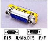 変換コネクタ D15P-F/F