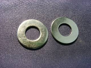 Niメッキ真鍮ワッシャー 2×4.3×0.4 (1P/100個入)