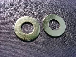 Niメッキ真鍮ワッシャー 2.3×4.6×0.4 (1P/100個入)